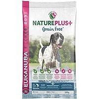 Eukanuba Nature Plus+ Grainfree, getreidefreies Trockenfutter für Hunde aller Rassen, reich an gefrierfrischem Lachs, Probiergröße (1 x 100 g)