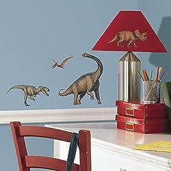 RoomMates RMK1043SCS - Pegatinas para pared con diseño de dinosaurios
