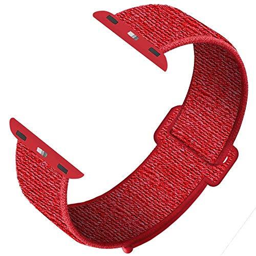 SYOSIN für Apple Watch Armband 38mm 40mm 42mm 44mm,Gewobenes Nylon Sport Schlaufe Handgelenk Uhrband Ersatz Armreif Uhrenarmband für iWatch Apple Watch Series 4 3 2 1 ...