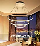 Moderne LED Pendelleuchte esstisch 148W Led 3-Ring dimmbar Fernbedienung aumlngeleuchte Wohnzimmer Deckenleuchte Schlafzimmer oumlhenverstehbar aumlngelampe Kronleuchter (Durchmesser 1000+800+600mm)
