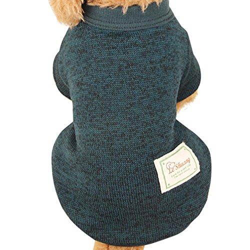 Bilder Welpen In Den Der Kostümen (Nette Haustier Hundestrickjacke, Hmeng Einfarbig Wolle Pullover Haustier Welpen Katzen Warmes Hund Mantel 5 Größen 11 Farben (XXL,)
