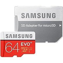 Samsung Speicherkarte MicroSDXC 64GB EVO Plus UHS-I Grade 1 Class 10, für Smartphones und Tablets [Amazon Frustfreie Verpackung]
