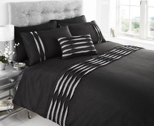 King Size Sparkling mit verziert Bettbezug-Set, schwarz
