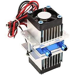DIY Réfrigération à Semi-Conducteur Réfrigération Thermoélectrique à Refroidisseur à Effet Peltier Dispositif de Refroidissement par Eau (120W)