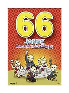 Depesche 5598.085Tarjeta de felicitación con diseño de Archie, 66. Cumpleaños