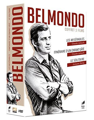 Coffret belmondo 3 films : les misérables ; itinéraire d'un enfant gâté ; le solitaire [FR Import]