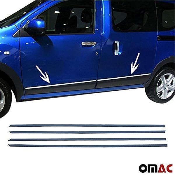 Dokker 2012 Chrom Seitliche Türleisten Blenden 4tlg Aus Edelstahl Auto