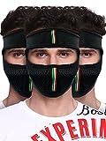 #7: Big Tree® Pro Bike Riding & Cycling Anti Pollution Dust Sun Protecion Half Ninja Face Cover Mask (Black) (Pack of 3)