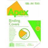 Apex 65010 - Pack de 100 portadas cartulina imitación cuero A4, color negro