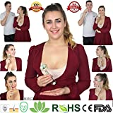 Anti Aging Jade Roller für Gesicht Massage, 100% natürliche Gesichts-Massagegerät mit Doppelrollen zu Regenerieren Haut., blau