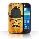 Stuff4 Hülle / Hülle für Samsung Galaxy Win Pro/G3812 / Melone Hut Muster / Retro Schnurrbart Kollektion