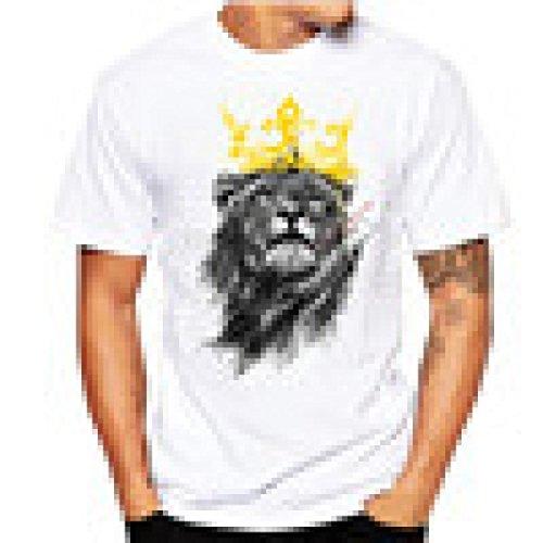 HUIHUI Oversize Vintage Herren T-Shirt 3D Löwe Drucken Kurzarm Blouse Herren Slim Fit kapuzenpullover Baumwolle O-Ausschnitt Coole Trainings Sport Pullover Strassenbande Sweatshirt (XXXXL, - G-star-halloween