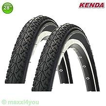 Kenda K-935 Cubierta de bicicleta Rueda 28 x 1 3/8 x 1 5/8 - 700 x 40C - 01022838 - Negro, 2 x