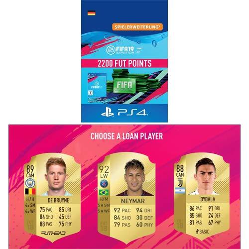 FIFA 19 Ultimate Team - 2200 FIFA Points   PS4 Download Code - deutsches Konto + GRATIS LOAN PLAYER