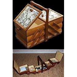 Rodnik - Costurero plegable (madera, con almohadillas para agujas)