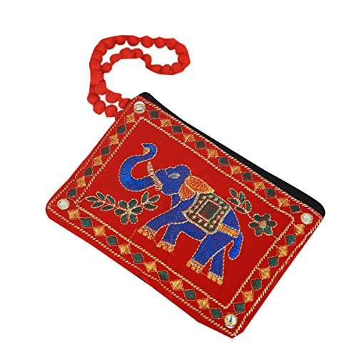 Kuber Industries™ Designer Mobile-Phone Pouch Cover With Hand Dori For Women: Rich Embroidery In Traditional Indian Style (Pink) - BG57  available at amazon for Rs.169
