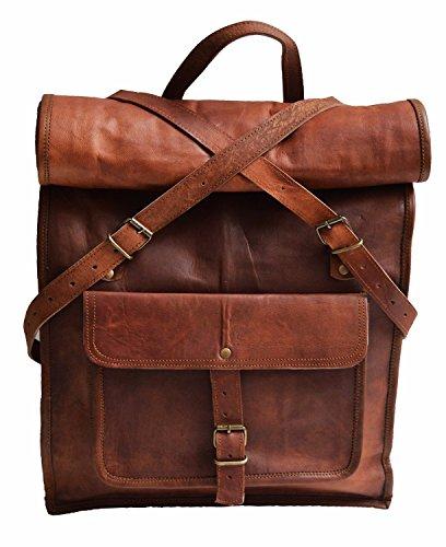 Jaald Rucksack, 58 cm, echtes Leder, für Laptop, Reisen, für Herren und Damen -