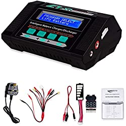Keenstone 10A AC 100W Balance Charger Discharger for LiPo/Li-ion/LiFe/LiHV Battery (1-6S), NiMH/NiCd (1-15S), Mini Tamiya, Standard Tamiya, XT60, Deans connector, Alligator Clips and Power Supply