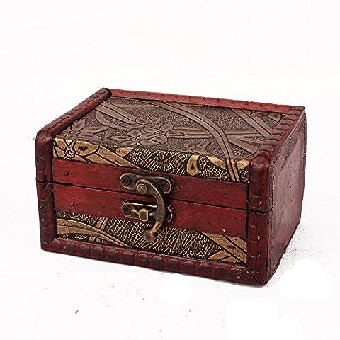 Boite Bijoux Fille - ZRO en bois Boîte de rangement antique