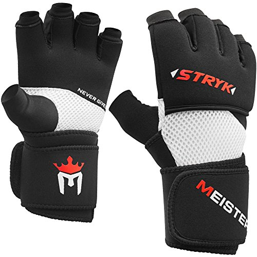 Meister Inner STRYK Handschuhe mit EliteGel für Boxen und MMA Schwarz M/L Innere Handschuhe