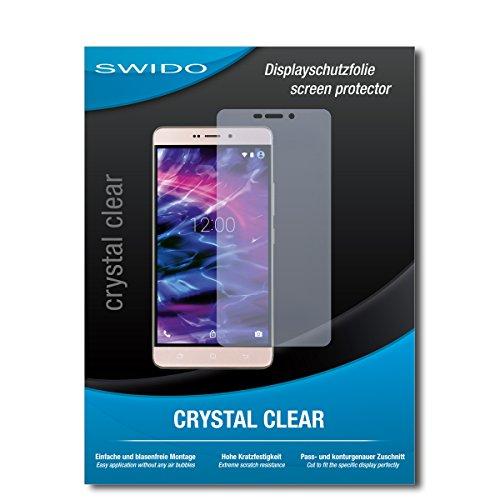 SWIDO Bildschirmschutz für Medion Life X5520 [4 Stück] Kristall-Klar, Hoher Härtegrad, Schutz vor Öl, Staub & Kratzer/Schutzfolie, Bildschirmschutzfolie, Panzerglas Folie