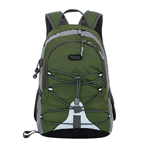 Kinder Jungen Mädchen Wasserdichter Outdoor Rucksack Bookbag Schultasche Trekking Leichter Rucksack für Frauen Herren Free armee-grün