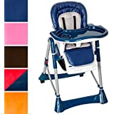 TecTake Baby highchair height adjustable -different colours- (Blue)