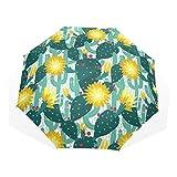 Paraguas Originales Con Diseño De Cactus Tropical Anti Rayos UV