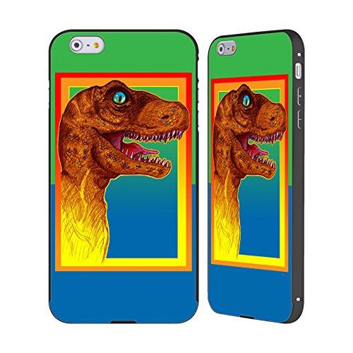 Ufficiale Howie Green Pop Art Mostro Phinn Dinosauri Nero Cover Contorno con Bumper in Alluminio per Apple iPhone 5 / 5s / SE Pop Art 3