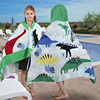 YISUN Kids Hooded Bath Beach Towel 100% Cotton Super Soft Children