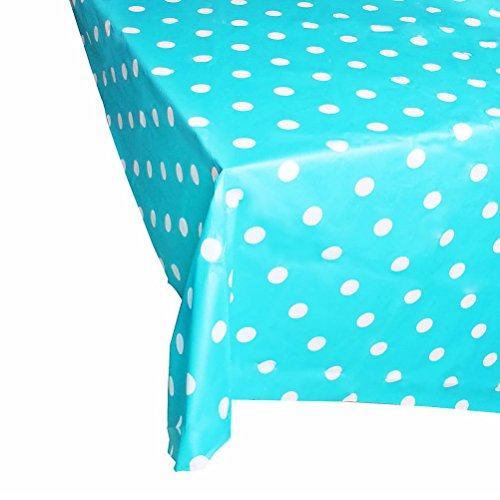 Kunststoff-tischdecke Große (Kunststoff Tischdecke, sicai Große Kunststoff Dot Rechteck Tisch, Kunststoff Einweg Party Tischdecke, Lake Blue)