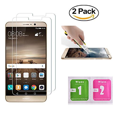 Huawei mate 9 Protection écran ,Tempered Huawei mate 9 Protection écran Film Vitre Install HD Ultra transparent protection verre trempé pour Huawei Mate 9 (2 Pack)