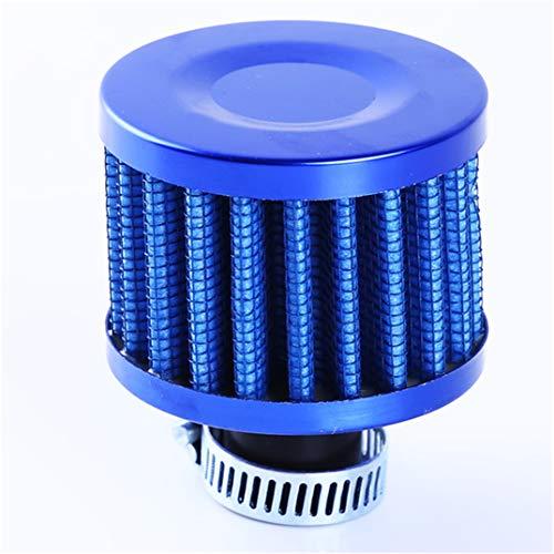 JOOFFF Luftfilter Auto Motorrad Geändert Luftfilter Pilzkopf Mini Luftfilter Öl Kurbelgehäuse Ventil Luftfilter, blau