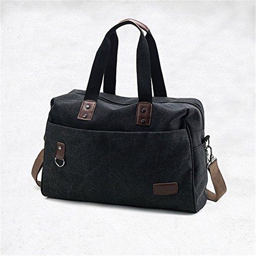 retro - portable reisetasche großer nähe gepäck tasche,schwarz schwarz