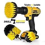 Swonuk Drill Brush Cepillos para el Taladro, 3pcs Electric Drill Brush 2'3.5' 4'Cepillo eléctrico para Automóvil, Alfombra, Baño, Piso de madera, Cuarto de lavado, Cocina
