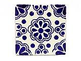 mexikanische Fliesen 5x5cm - Keramik handgefertigt - Fair Trade (Lace azul)