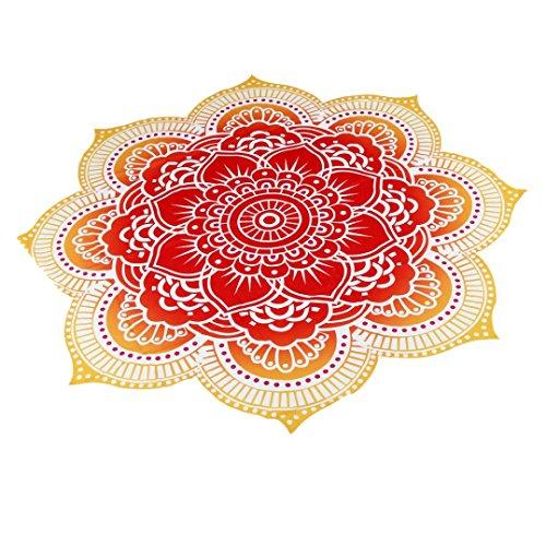 lanowo Polyester Siebdruck Strandtuch Decke Tischdecke Yogamatte rot