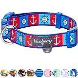 Blueberry Pet Halsbänder für Hunde 1,5 cm S Klassisches Bon Voyage Hafen Designer Hundehalsband