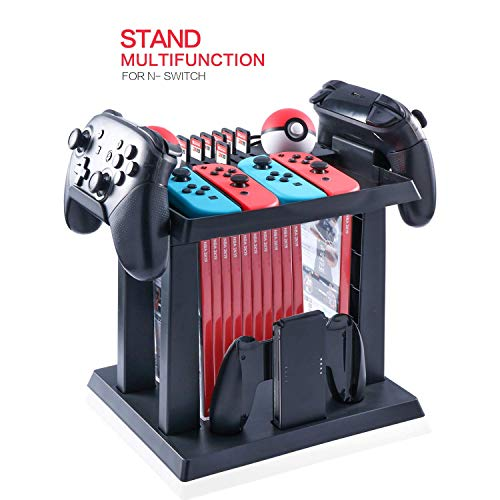 Siomeor Switch Controller Ständer Gamepad Storage Multifunction Bracket Tower PS4 Game Card Box Holder Stand Shelf Compatible for Nintendo Switch Controller Console Host Game Disc Card (Playstation 3 Spiel-rack)