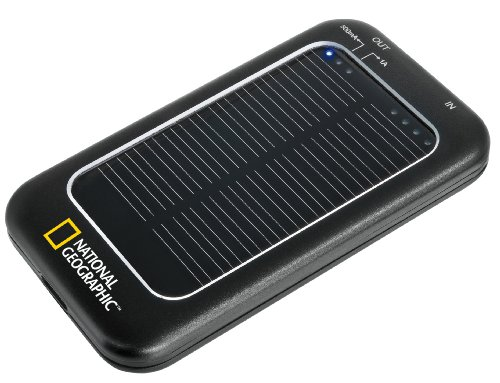 National Geographic Caricatore Solare Power Charger Nero