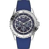 Guess Herren-Armbanduhr Chronograph Quarz Silikon W0485G3