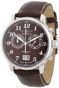 Zeppelin Herren-Armbanduhr XL LZ127 Graf Chronograph Quarz Leder 76843