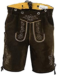 Costume Short Trousers with Braces Trachtenhose Brown