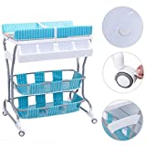 Costway 2 in 1 Infant Changing Table Baby Bath Tub Unit Rolling Station