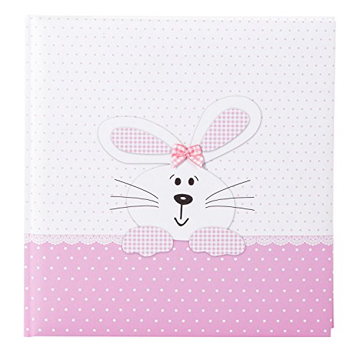 Goldbuch Babyalbum, Bunny Pink, 30 x 31 cm, 60 weiße Seiten, 4 illustrierte Seiten, Pergamin-Trennblätter, Leinenstruktur, Weiß/Rosa,...