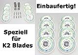 8er HYPER Rollen SUPERLITE 78mm für K2 Skates Inliner fertig montiert - Einbauen losfahren Rollen + Kugellager+Spacer 6mm