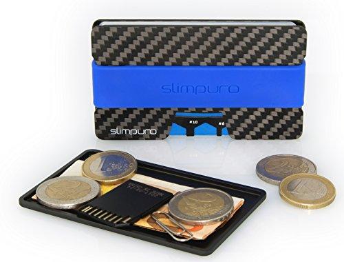 7152cfc7ca SLIMPURO® Portamonete / Borsellino - Portaspiccioli Universale in Alluminio  Anti RFID per Borsa, Portafoglio, Portafoglio Sottile, Porta Carte o Borsa  ...