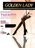 Lot de 2 collants Golden Lady Thermo sensation 40D