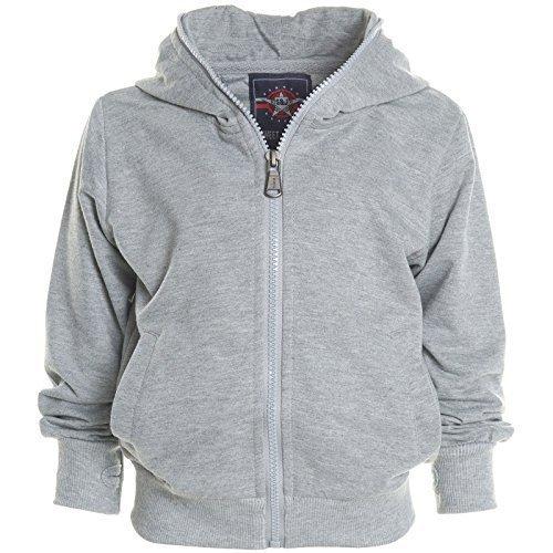 Kinder Kapuzen Pullover Hoodie Sweat Shirt Jacke Rollkrakgen Herbst Winter 20568, Farbe:Grau;Größe:140