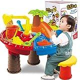 Kinder Spieltisch, Teckpeak 23 Teilig Kinder Strandspielzeug Sand Tisch Wasser Spielen Spielzeug - Farbe Zufällig